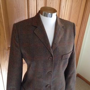 FACONNABLE - Olive/Brown Tweed Blazer - A Classic!